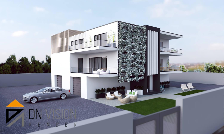 progettare casa online, RENDERING ESTERNI