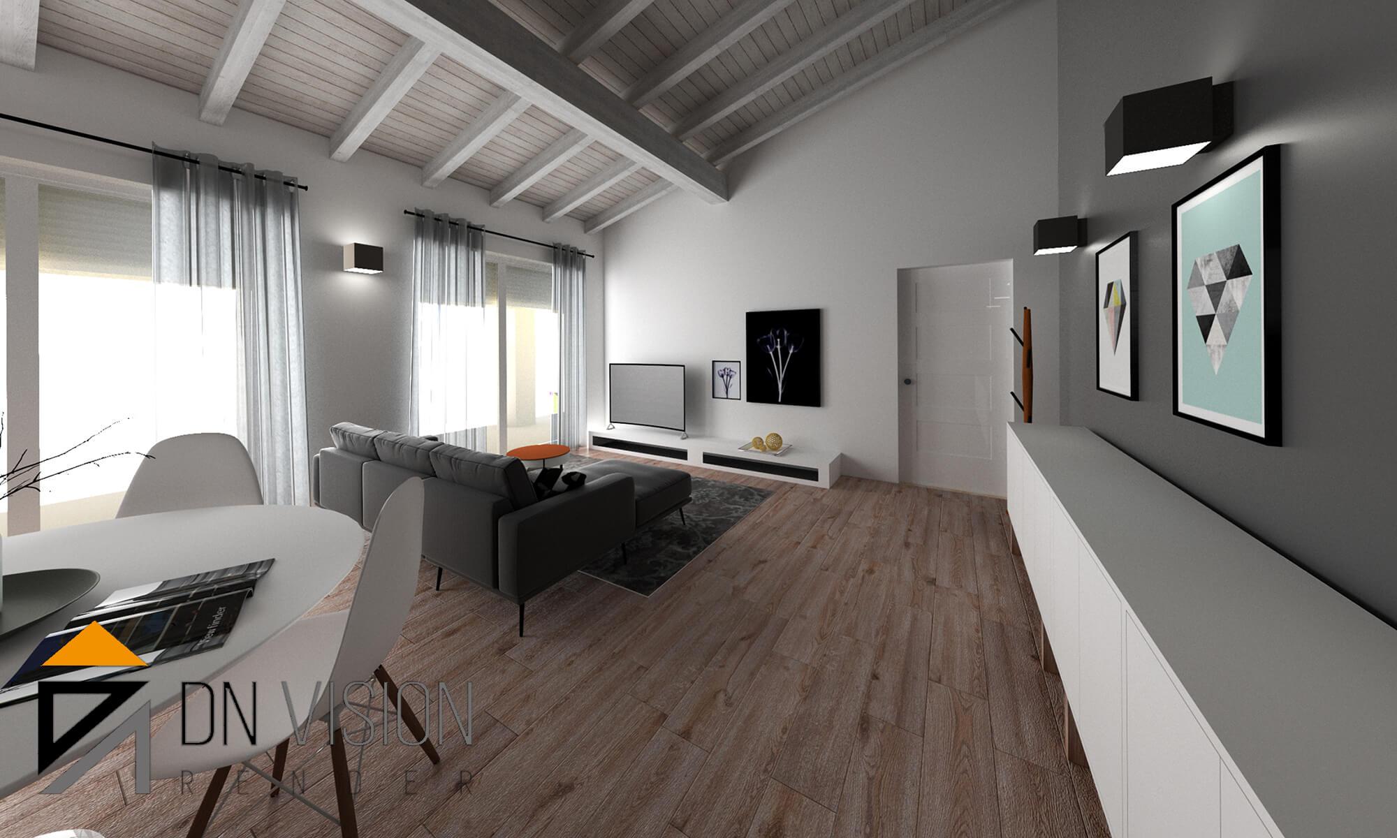 progettare casa online, RENDERING INTERNI