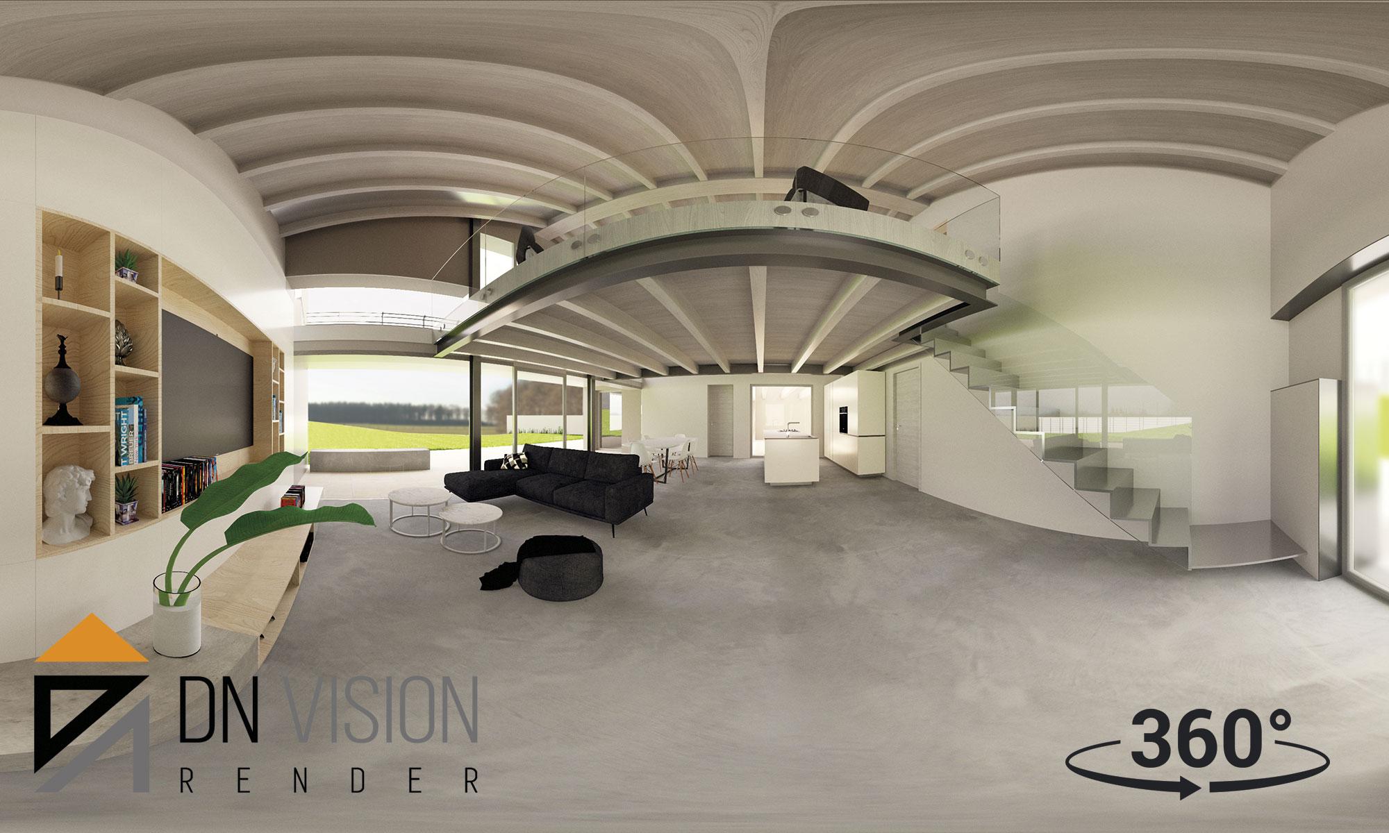 progettare casa online, Rendering 360 + Realtà Virtuale