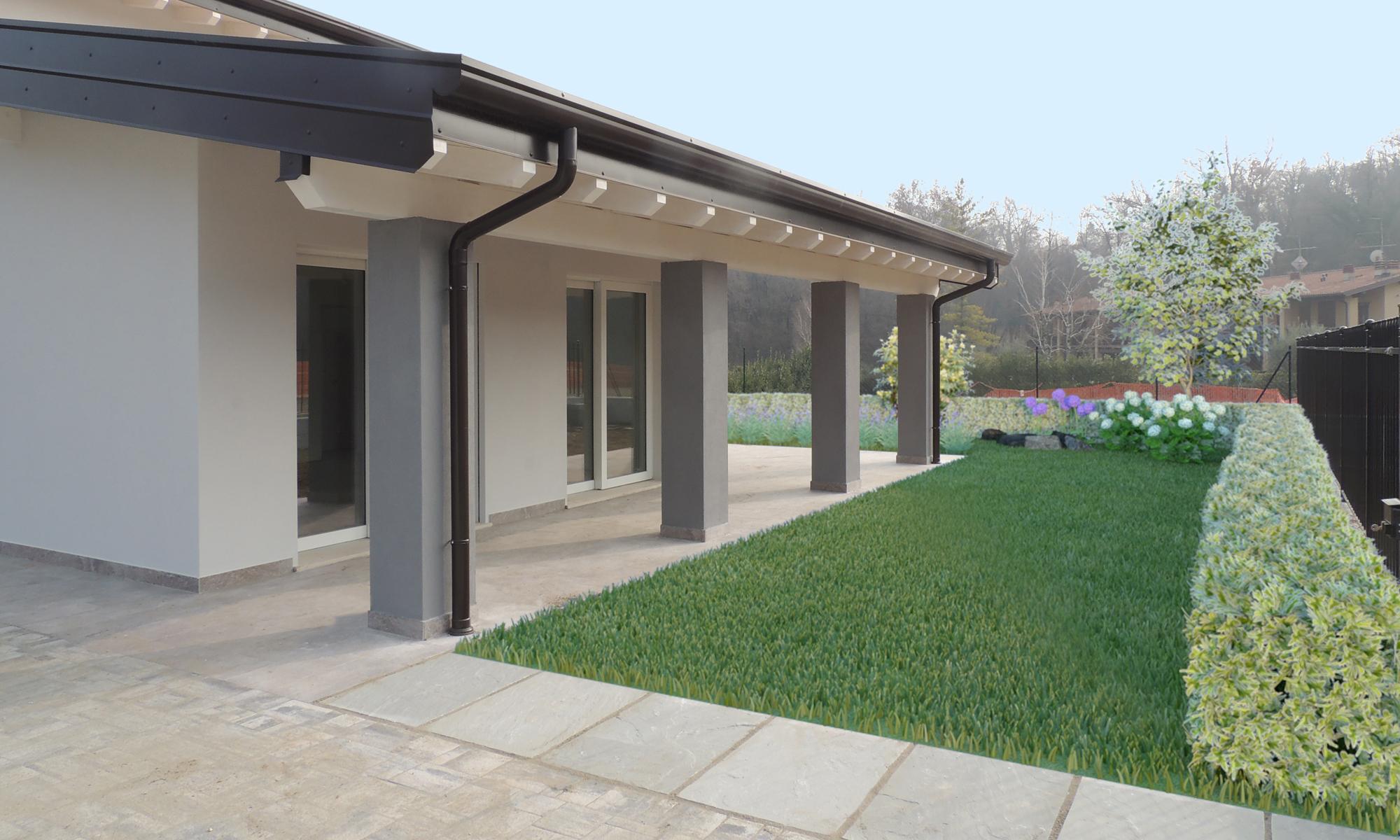 progettare casa online, Fotoinserimento Giardini
